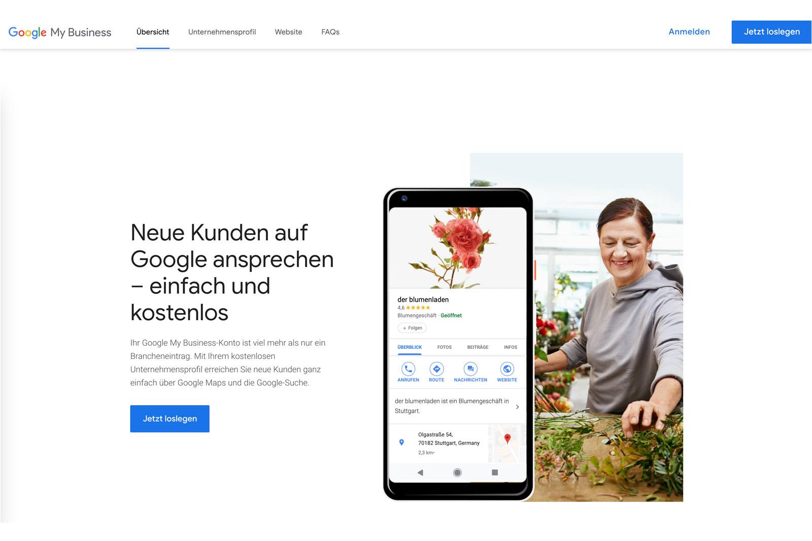 Google My Business Eintrag - Header