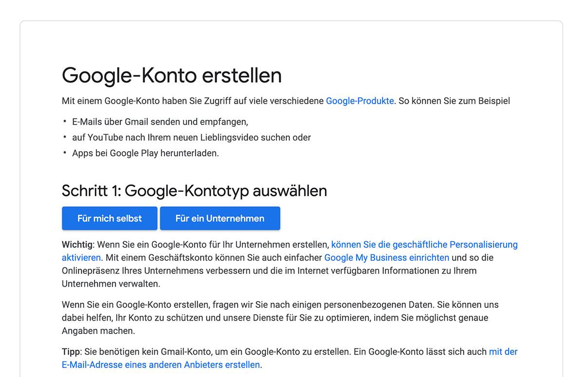 Google My Business Eintrag - Infos