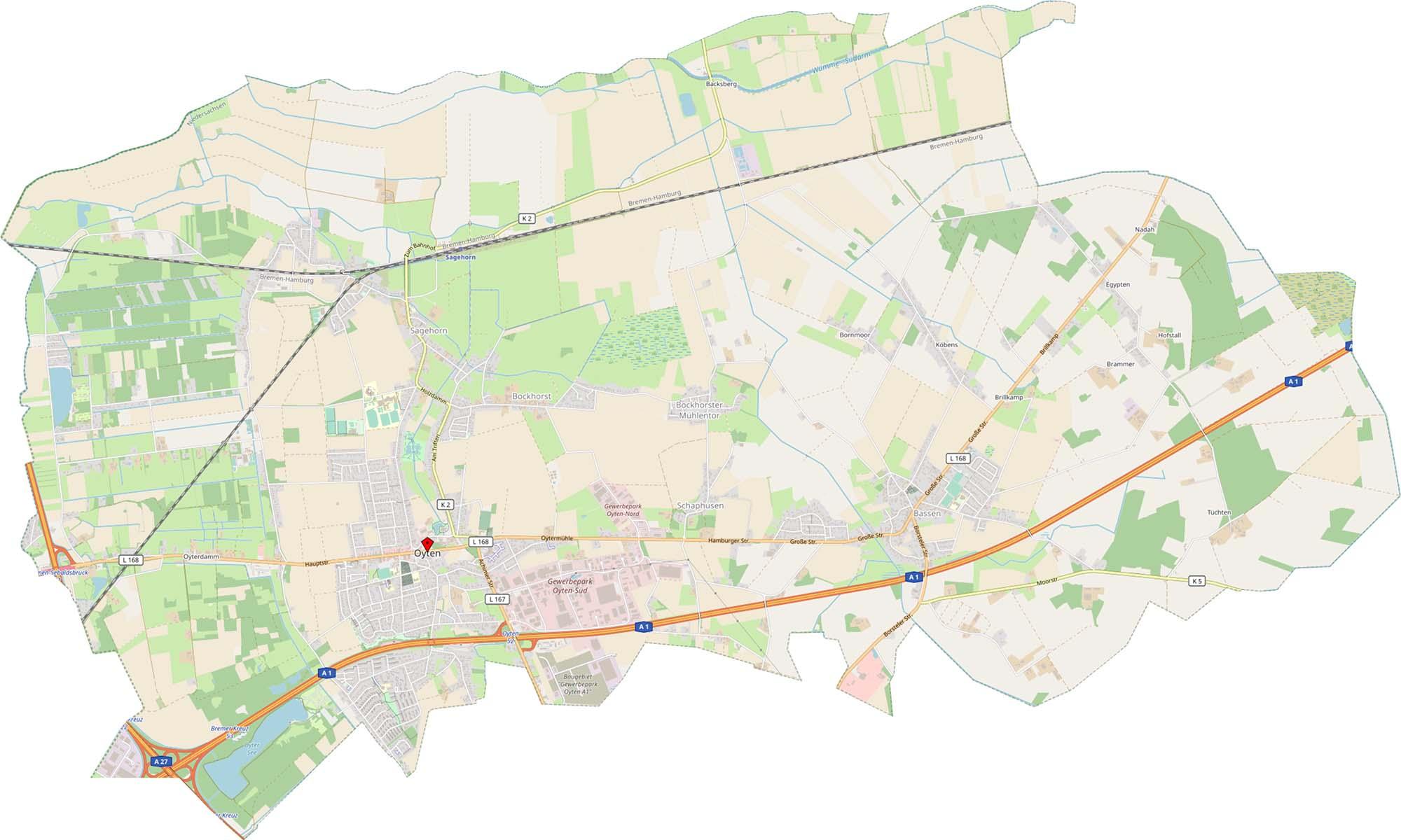 Digitalberatung für Oyten - Karte Oyten